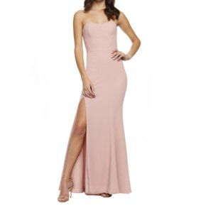 DRESS THE POPULATION Blush Ellen Strapless Gown